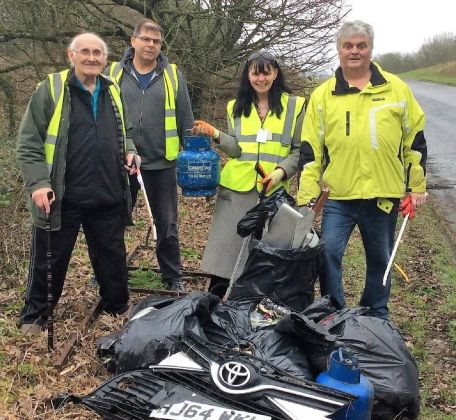 Creekmore rubbish cleanup