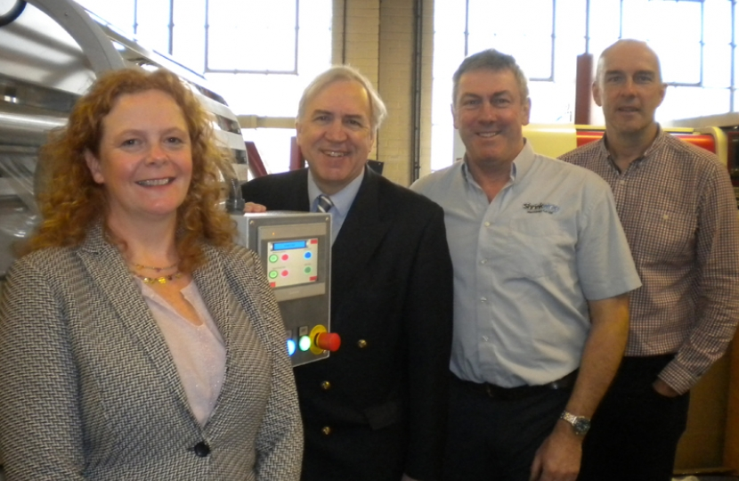 Robert Syms MP with the Shrinkwrap team