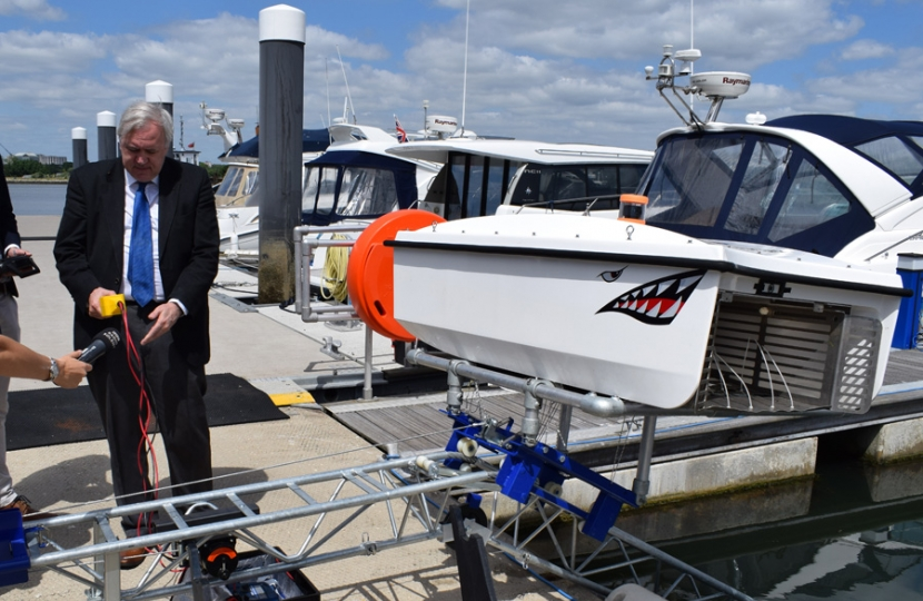Sir Robert launches WasteShark