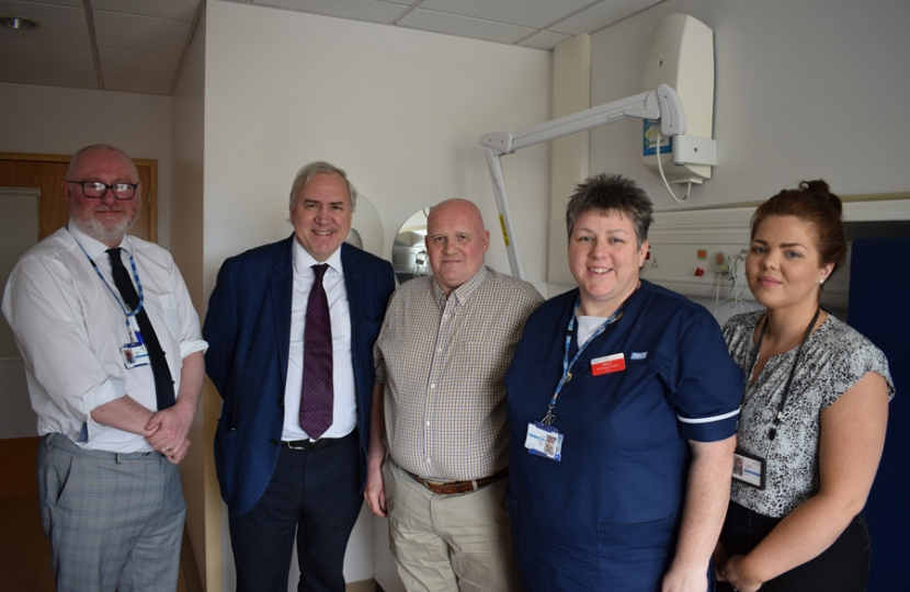 Sir Robert with Poole Rehabilitation Team